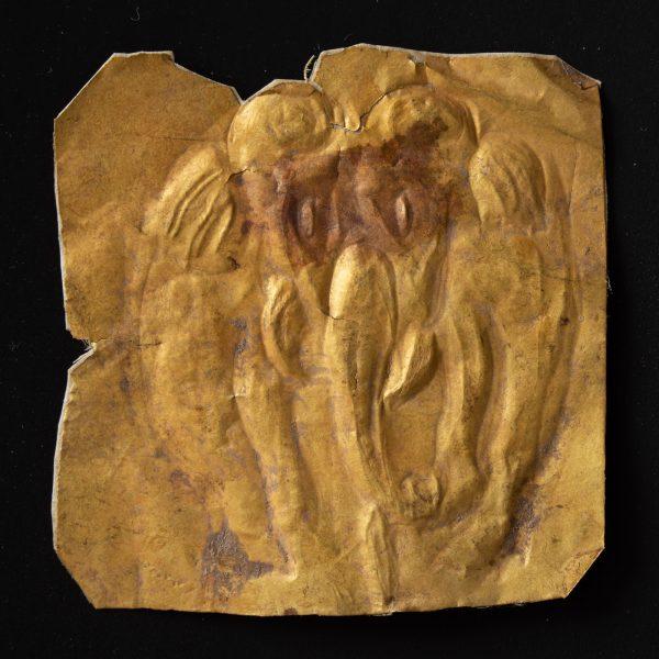 Gold votive plaque depicting an elephant