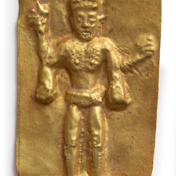Gold votive plaque of Lord Shiva