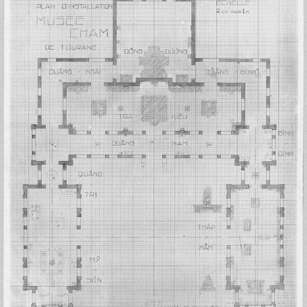Museum plan in 1936 (Courtesy EFEO)