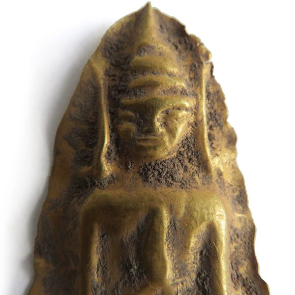 Gold Buddha votive plaque